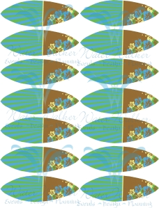 Blue green yellow surfboard toppers PREVIEW