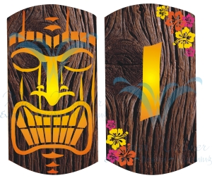 Tiki man wood banner PREVIEW